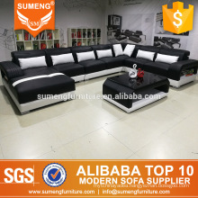 SUMENG high quality u shape sofas,top great sale living room furniture