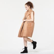 Faux Fur Collar Release Lapel Style Fur Coat
