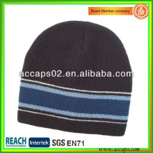 Winter hat knitted stripe beanie BN-2652