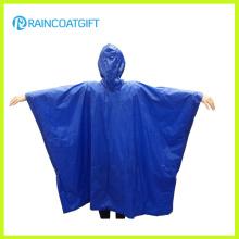 Poncho imperméable bleu adulte de PVC Rvc-186
