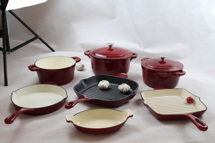High Quality Porcelain Enamel Coating Cookware