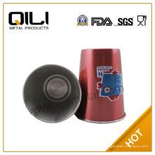 porte-gobelet en acier inoxydable rouge 300ml peinture en spray