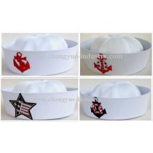 Factory machen weiße Baumwolle Seemann Matrose Mütze Hut
