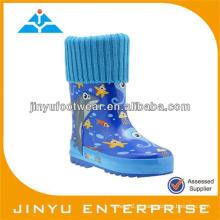 Botas de goma de chuva para crianças