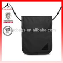carteira de pescoço de viagens de ID de segurança RFID poliéster impermeável para passaporte (HCSD0006)