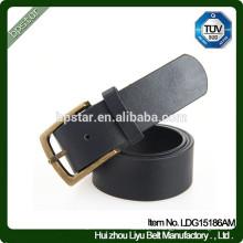 Boucle en métal véritable en cuir noir et blanc en cuir / ceinture de cuir pour hommes