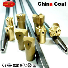 Integral Tapered Rock Drill Rod for Cross Chisel Button Bit