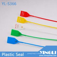 Joint en plastique de serrure de sécurité d'impression de timbre chaud