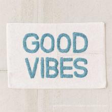 Bonne absorbant Good vibes style lettre serviette pour tapis de bain à domicile BM-002