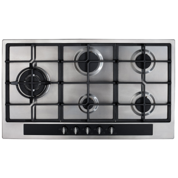 Cooker Hob CDA 5 Rings Stainless Steel