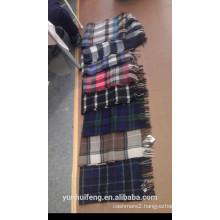 pure cashmere checks scarf