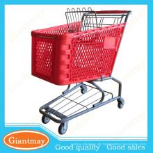 Bestseller erhellen Farbe Arten von Kunststoff-Supermarkt Warenkorb