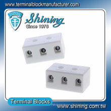 TC-503-A 8 trous M3.5 Vis 3 pôles 600V 50A connecteur de câble en céramique
