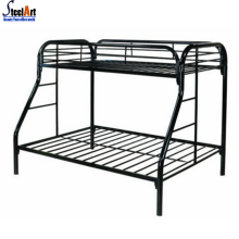 Metal double decker bunk bed king size bed frame