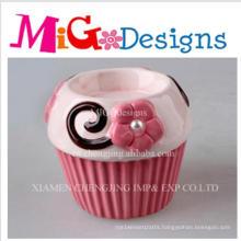 Wholesale Cupcake Ceramic Candlestick Holder