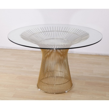 Moderne Gold Wire Warren Platner eettafel replica