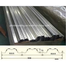 Placa de piso de aço galvanizado PPGI (YX76-313.5-940)