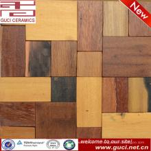 Китай производство смешанных деревенские деревянные плитки мозаики бар украшения стены