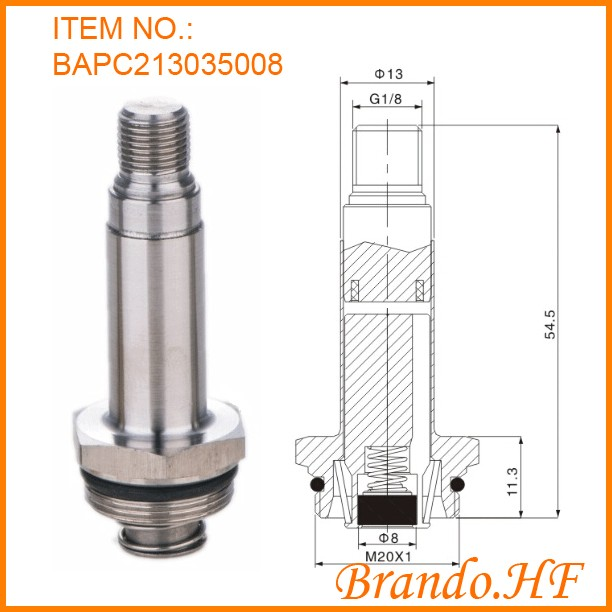 pneumatic armature plunger assembly