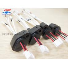 montaje del cable eléctrico con sensor