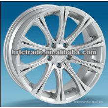 Siliver / preto cromo esporte alumínio carro liga roda