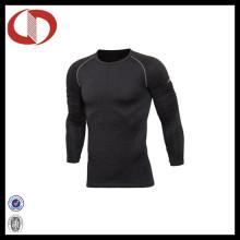Blank Long Sleeve Compressão Top Camisas dos homens Atacado