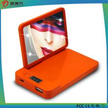 Banco portátil cosmético elegante do poder do carregador de bateria do espelho 4000mAh do projeto novo por atacado