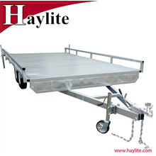 Heavy duty Tandem Top Flat Deck Bed Car Trailers Qingdao Factory Supply