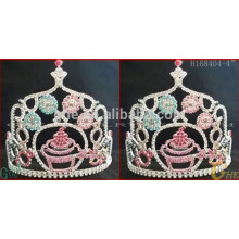 pageant crowns tiara,wedding tiara and crown,cheap rhinestone tiara crown