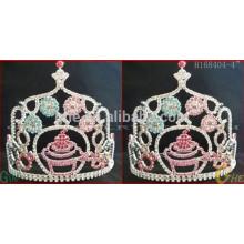 Конкурсант короны тиары, свадебная тиара и корона, дешевая корона тиары из страза