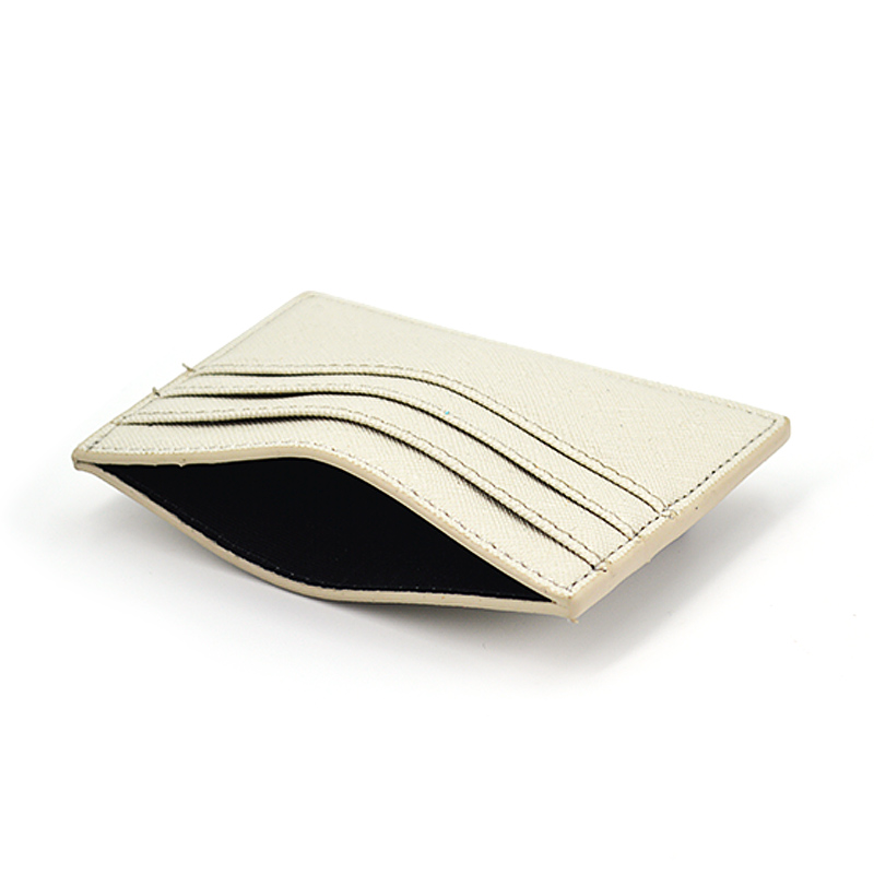 Ultra Thin Pu Saffiano Leather Credit Card Holder