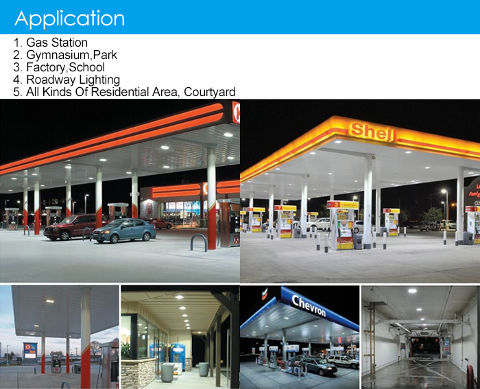 ETL DLC Led Gas Station Canopy Lights