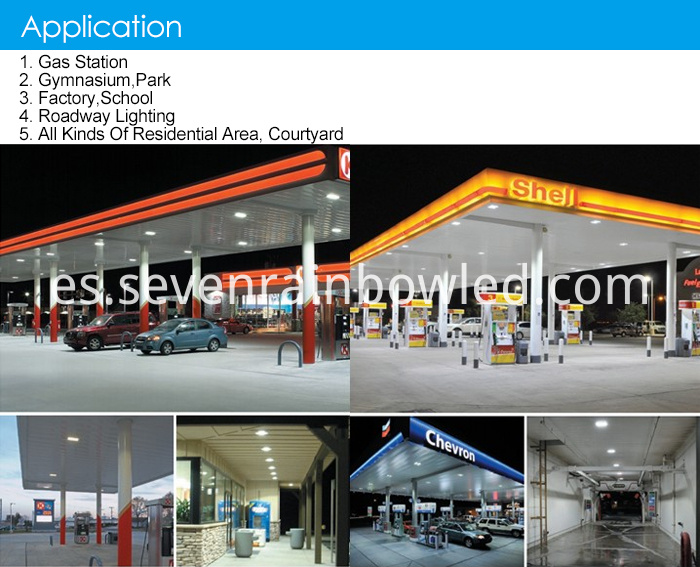 Aluminum Led Canopy Light For Gas Station