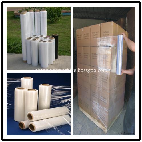 pallet packaging stretch film machine