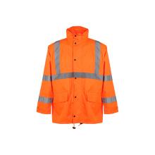 Manteau de pluie de sécurité réfléchissante hivernale (ANSI / ISEA107-2010)
