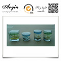 ocean square gel wax glass candle