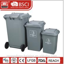 Öffentlichen hochwertigen Kunststoff Mülleimer Mülltonne mit Rad