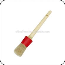 cepillo de pintura redondo de la virola plástica de la manija de madera