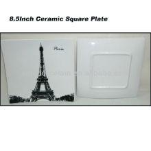 Placa cuadrada de cerámica de París 8.5inch para BS130601A