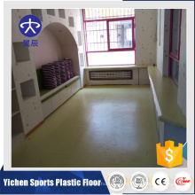 Bonne vente uv et plancher de pvc de couche transparente utilisé maternelle / plancher en plastique de plancher de vinyle utilisé à l'intérieur