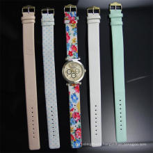 Leather Strap Changeable Watch for Lady