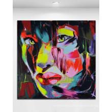 Pintura a óleo abstrata Hand-Painted 100% (KVP-115)