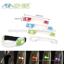 3 Modos de Luz Brillo 100% Flash Rápido y Lento Flash Seguridad Reflectante Cinturón Brazo Correa Noche Corriendo LED Armband Luces