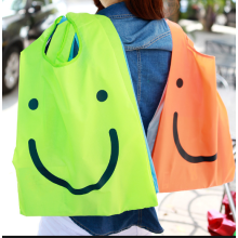 Custom logo smile face recycle nylon bag