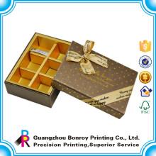Изготовленный на заказ Коробка шоколада картона Упаковывая конфеты с бумажным Рассекателем