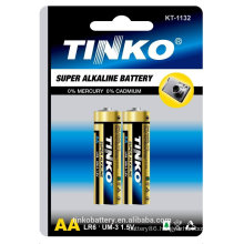 With SGS/MSDS LR6 1.5v aa jacket alkaline/dry battery good quality