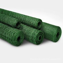 Chicken Wire Mesh Rabbit Animal Fence Green PVC Coated Steel Metal Garden Netting Fencing 25m Hole Size: 25mm