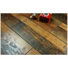 12.3mm Hand Scraped Walnut V-Grooved Laminate Floor