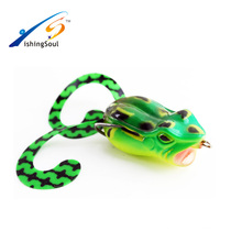 FGL001 Fishing Lure Jumping Frog Bass Killer VMC ganchos Soft Plastic Frog señuelo