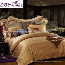 Impresión reactiva 60S 100% Algodón Juegos de ropa de cama larga con grapas Ropa de cama de jersey de punto